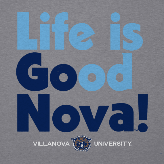 Men's Villanova Go Team Long Sleeve Cool Tee