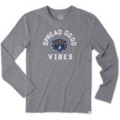 Men's Villanova Good Vibes Long Sleeve Cool Tee