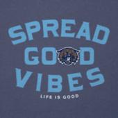 Men's Villanova University Good Vibes Long Sleeve Cool Tee