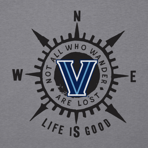 Men's Villanova University Wander Compass Cool Tee
