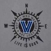 Men's Villanova University Wander Compass Cool Tee