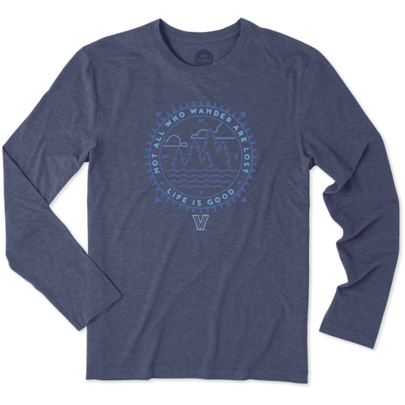 Men's Villanova Wander Long Sleeve Cool Tee