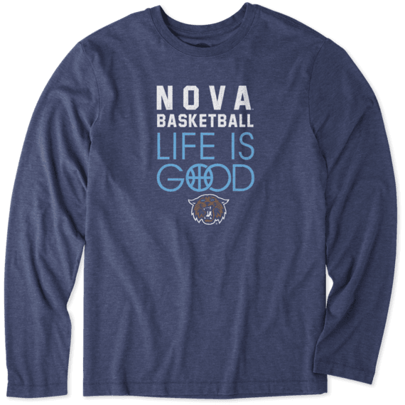 Men's Villanova Wildcats Infinity Basketball Long Sleeve Cool Tee