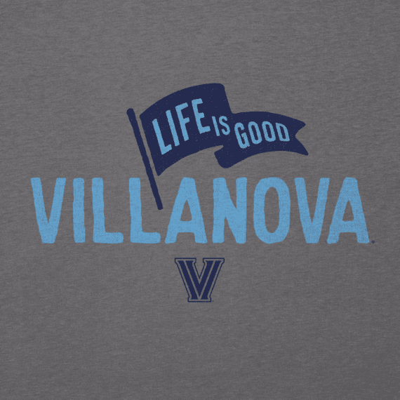 Men's Villanova Wildcats Pennant Long Sleeve Cool Tee