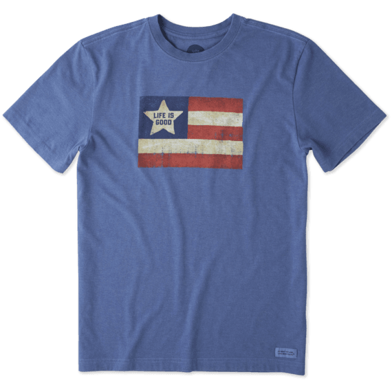 Men's Vintage American Flag Crusher Tee