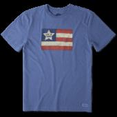 Men's Vintage American Flag Crusher Tee