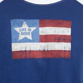 Men's Vintage American Flag Vintage Sport Long Sleeve