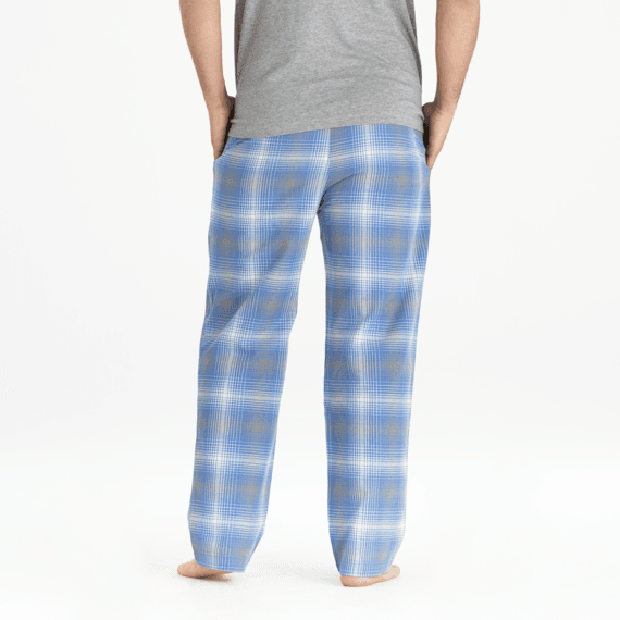 Men's Vintage Blue Plaid Classic Sleep Pant