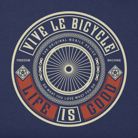 Men's Vive Le Bicycle Crusher Tee