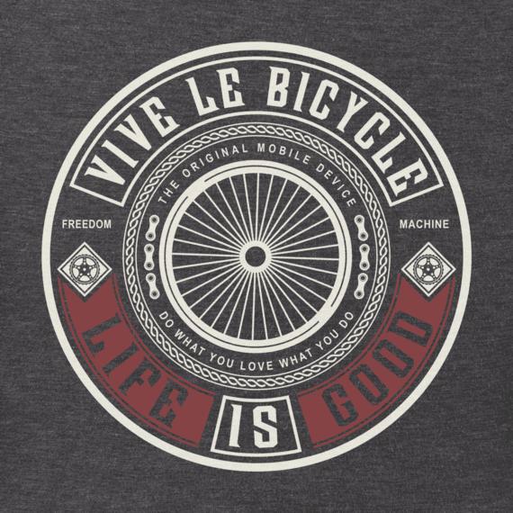 Men's Vive Le Bicycle Long Sleeve Crusher Tee