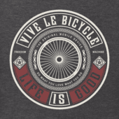 Men's Vive Le Bicycle Long Sleeve Crusher Tee