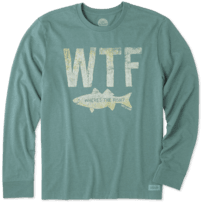 Men's WTF Long Sleeve Crusher Tee
