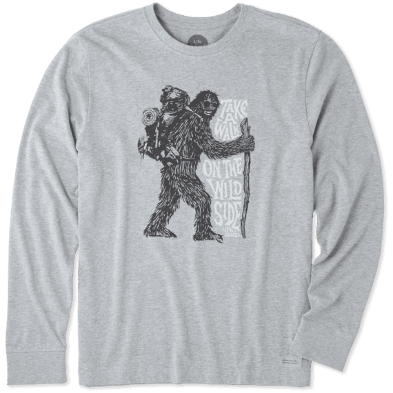Men's Walk On The Wild Side Long Sleeve Crusher Tee