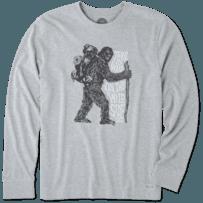 Men's Walk On The Wild Side Long Sleeve Crusher Tee