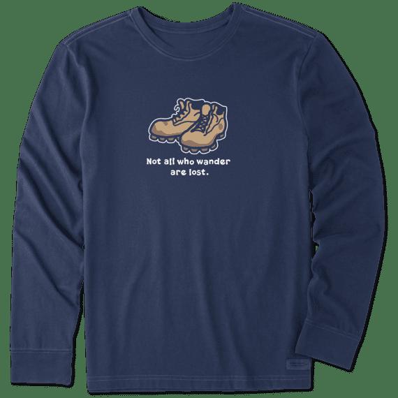 Men's Wander Boots Long Sleeve Vintage Crusher Tee