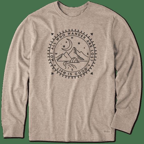 Men's Wander Compass Long Sleeve Crusher Tee