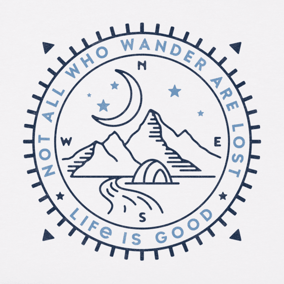 Men's Wander Compass Scene Crusher Tee