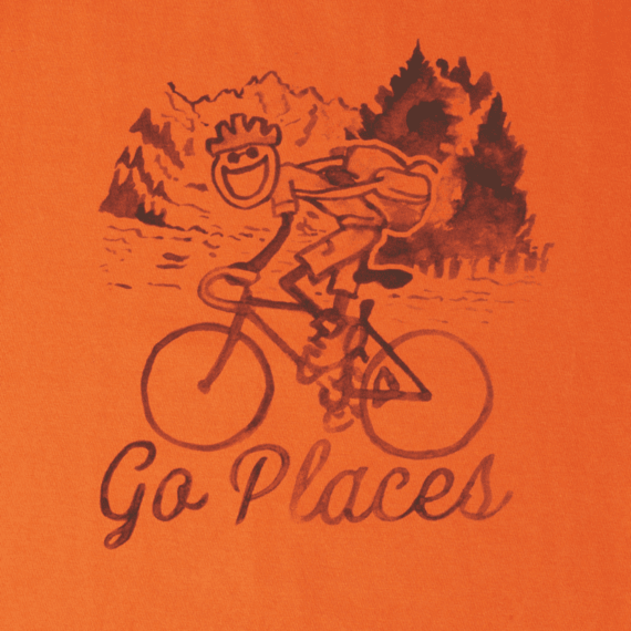Men's Watercolor Go Places Bike Crusher Tee