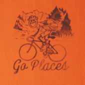 Men's Watercolor Go Places Bike Crusher Tee