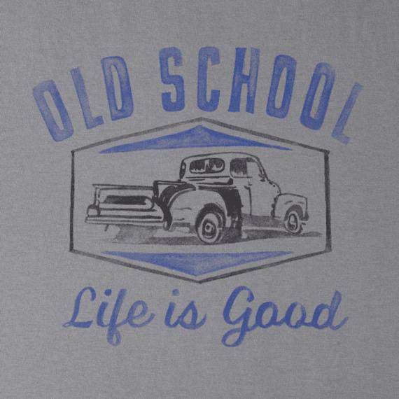 Men's Watercolor Old School Truck Crusher Tee