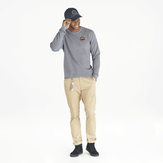 Men's Wave Patch Simply True Crew
