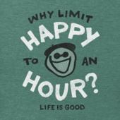 Men's Why Limit Happy Hour Long Sleeve Crusher Tee