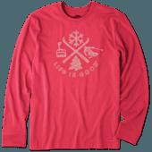 Men's Winter Action Long Sleeve Crusher Tee