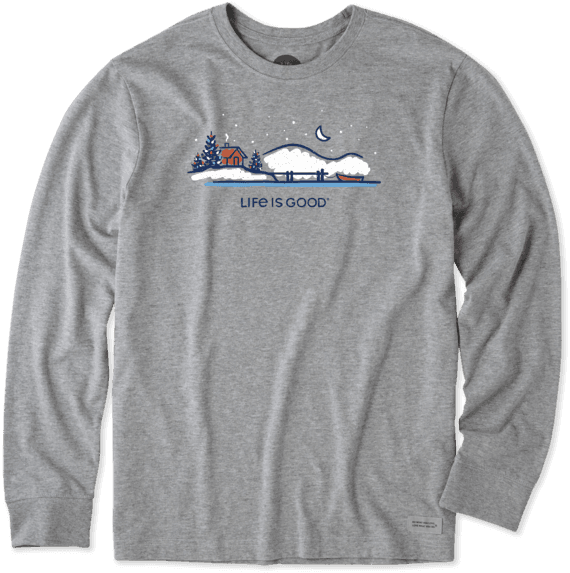 Men's Winter On The Water Long Sleeve Crusher Tee