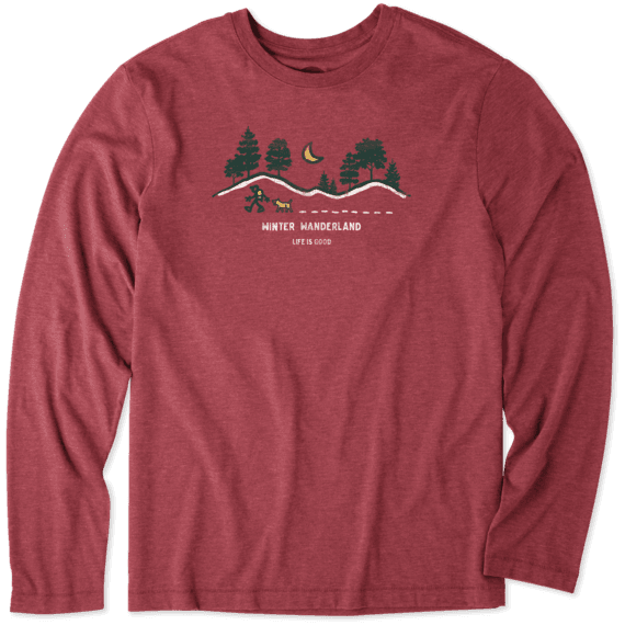 Men's Winter Wanderland Long Sleeve Cool Tee