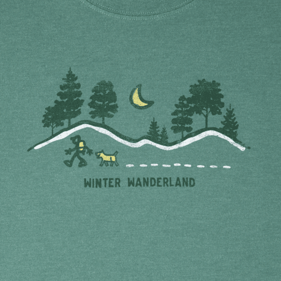 Men's Winter Wanderland Long Sleeve Crusher Tee
