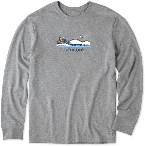 Men's Winter on the Water Long Sleeve Vintage Crusher Tee