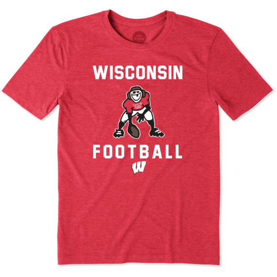 Men's Wisconsin Football Jake Cool Tee
