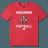 Men's Wisconsin Football Jake Cool Tee