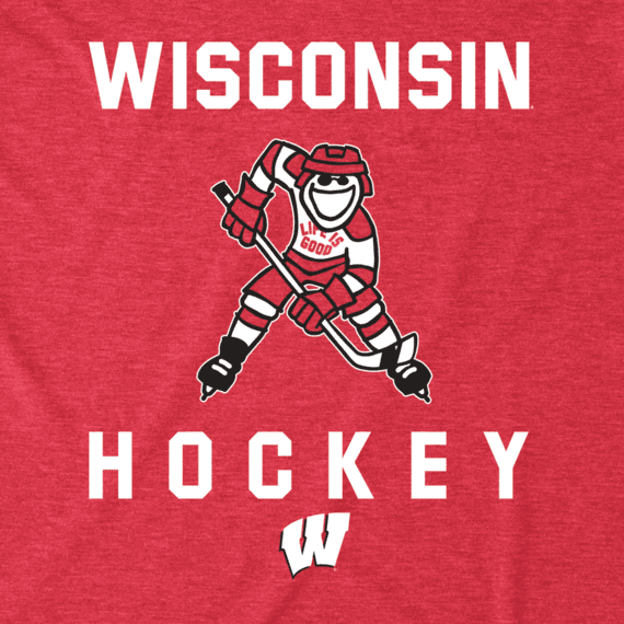 Men's Wisconsin Hockey Jake Cool Tee