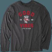 Men's Wisconsin Good Vibes Arc Long Sleeve Cool Tee