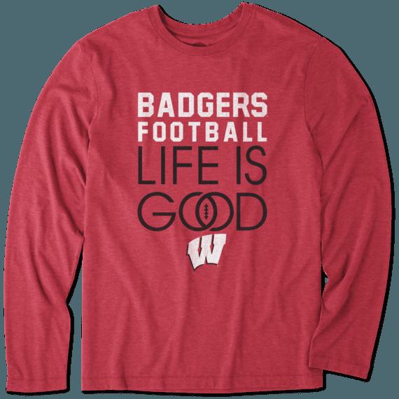 Men's Wisconsin Infinity Football Long Sleeve Cool Tee