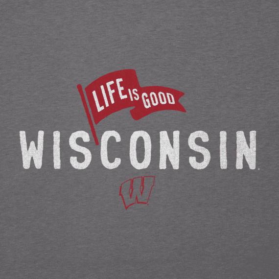 Men's Wisconsin Pennant Long Sleeve Cool Tee