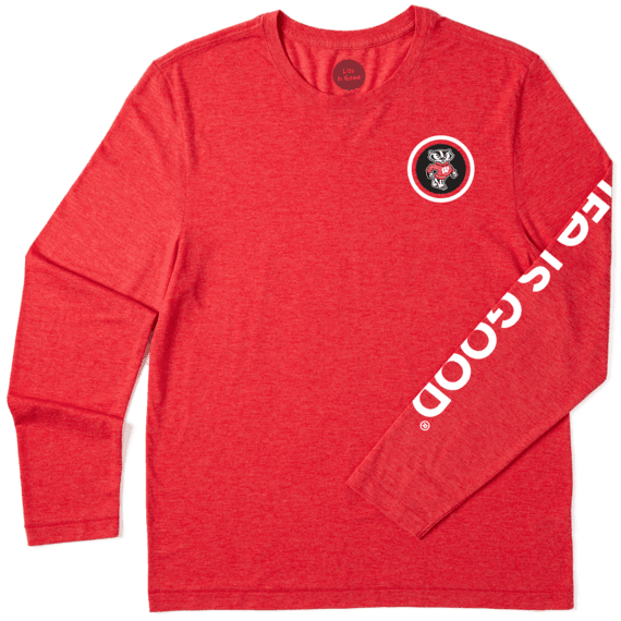 Men's Wisconsin Team Coin Long Sleeve Cool Tee