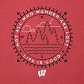 Men's Wisconsin Wander Scene Long Sleeve Cool Tee