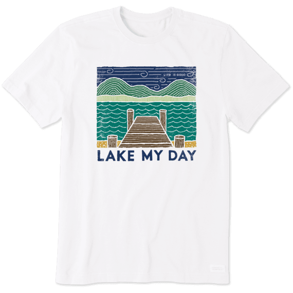 Men's Woodblock Lake My Day Crusher Tee