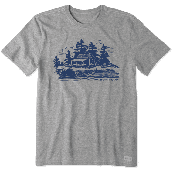Men's Woodcut Lake Cabin Crusher Tee