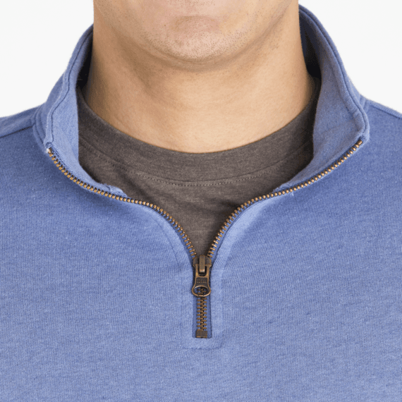 Men's Woven Logo Simply True French Terry Quarter Zip