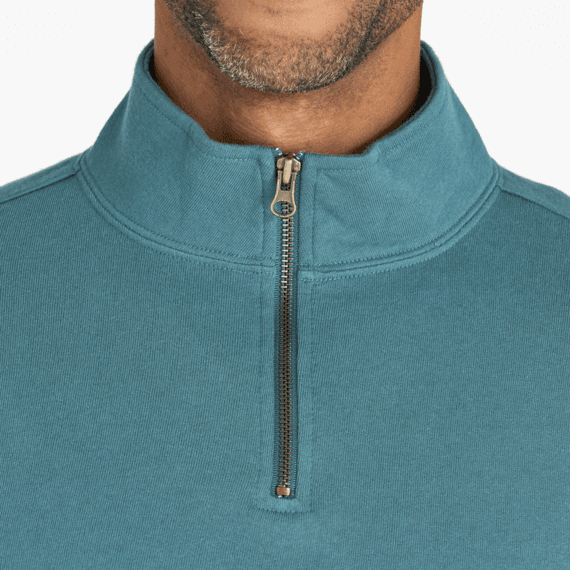 Men's Woven Logo Simply True Quarter Zip