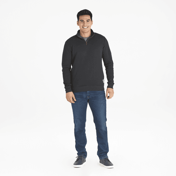Men's Woven Logo Simply True Quarter Zip