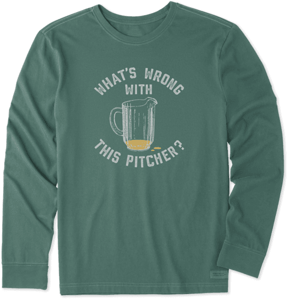 Men's Wrong With This Pitcher Long Sleeve Crusher Tee