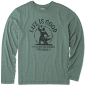 Men's You Make Happiness Long Sleeve Cool Tee