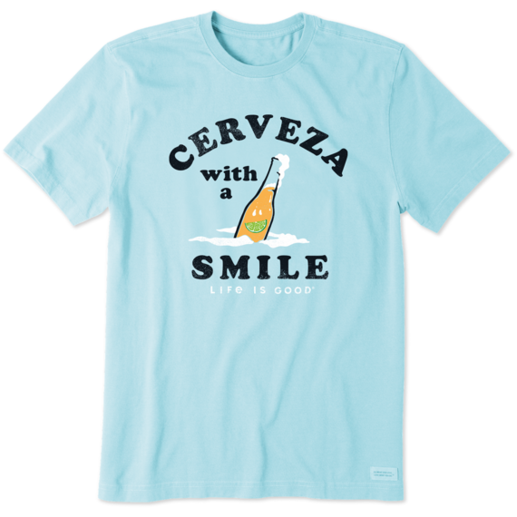 Men's Cerveza With A Smile Crusher-LITE Tee