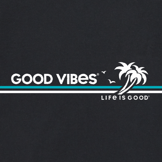 Men's Good Vibes Beach Stripe Crusher-LITE Tee