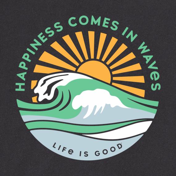 Men's Happy Waves Long Sleeve Crusher Tee