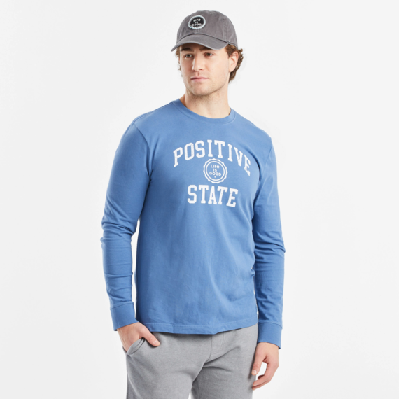Men's Positive State Long Sleeve Crusher Tee